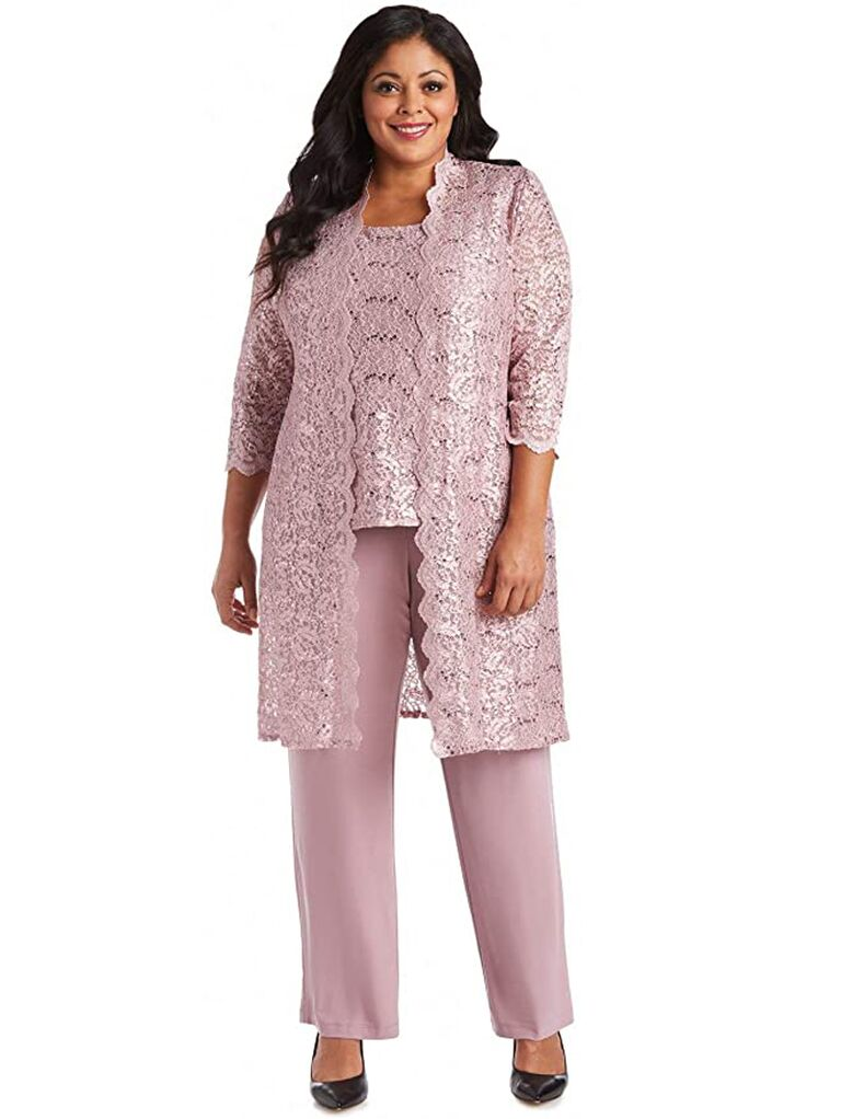 amazon light pink three piece mother of the bride pant suit