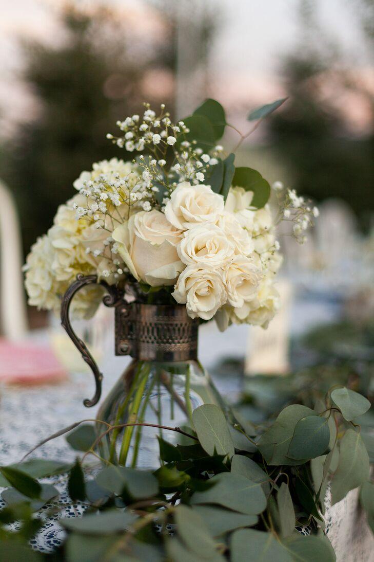Vintage Tea Pot Flower Vase Centerpieces