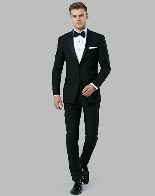 Menguin Black Notch Lapel Tuxedo Black Tuxedo