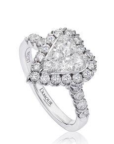 Christopher Designs Unique Heart Cut Engagement Ring