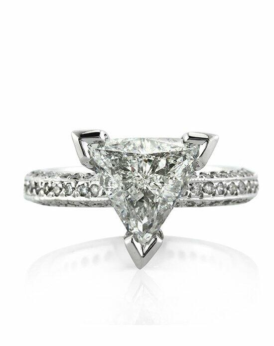 Mark Broumand 3.70ct Trillion Cut Diamond Engagement Ring Engagement Ring photo