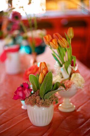 Low Tulip Centerpieces