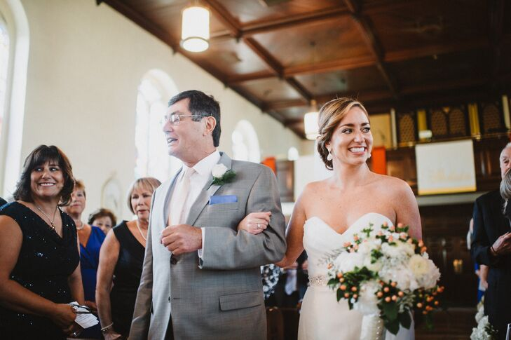 The ceremony was held at St. Joseph on the Brandywine, an 1841 church in Greenville, Delaware.