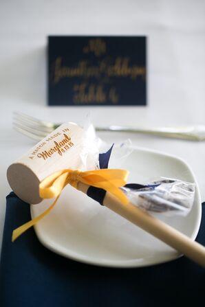 Engraved Wooden Crab Mallet Wedding Favor