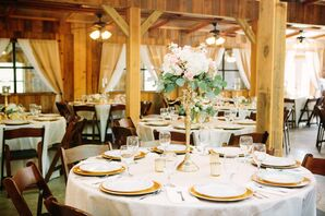 Whimsical Gold Candelabra Dining-Table Centerpieces
