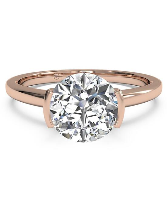 Ritani Solitaire Semi-Bezel-Set Diamond Engagement Ring - in 18kt Rose Gold for a Diamond Center Stone Engagement Ring photo