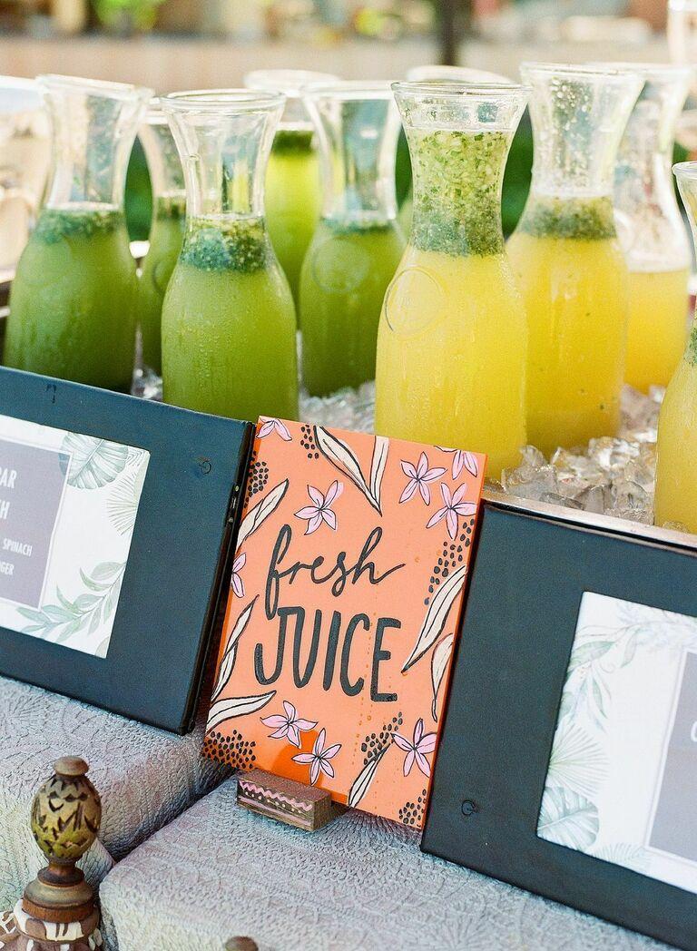 Fresh juice bar with custom signage