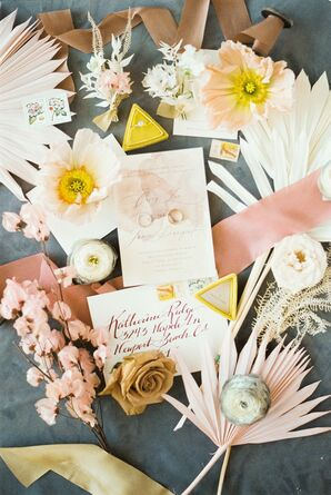 Bright Invitation for Bohemian Wedding in Naples, Florida