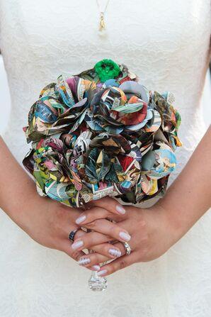 Paper Flower Comic Book Bouquet