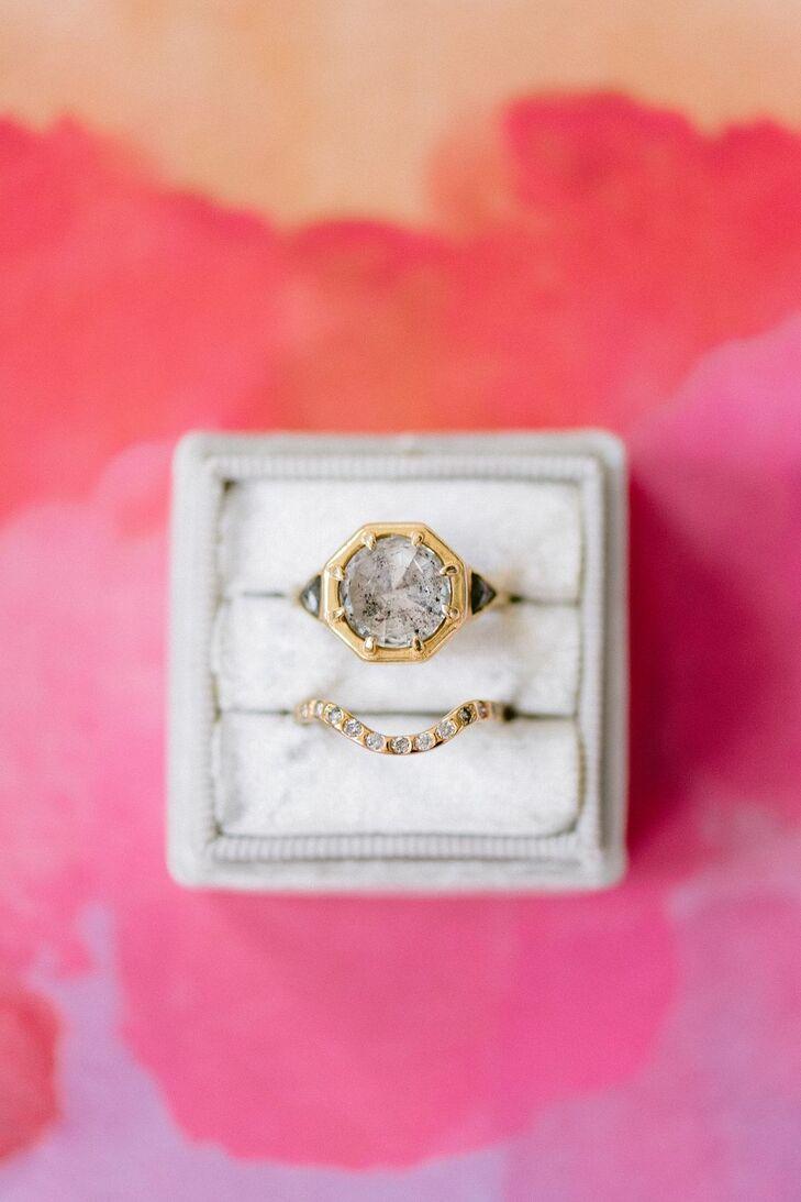 Vintage-Inspired Engagement Ring in Velvet Box