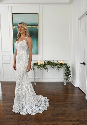 Essense of Australia D3159 Sheath Wedding Dress