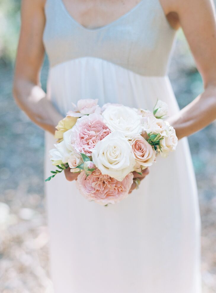 DIY Rose and Peony Pastel-Colored Bouquet
