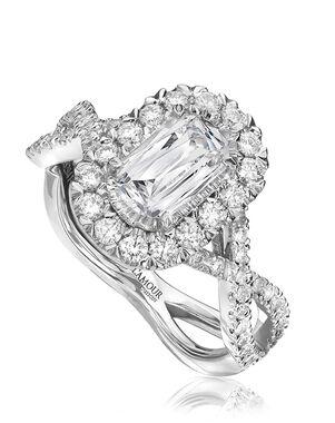 Christopher Designs Elegant Emerald, Oval Cut Engagement Ring