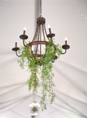 Greenery Decorated Reception Chandelier