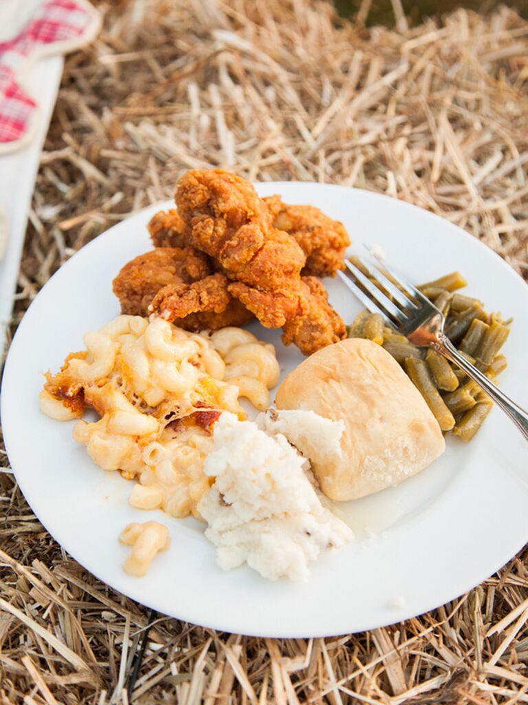 Southern wedding food for a reception dinner