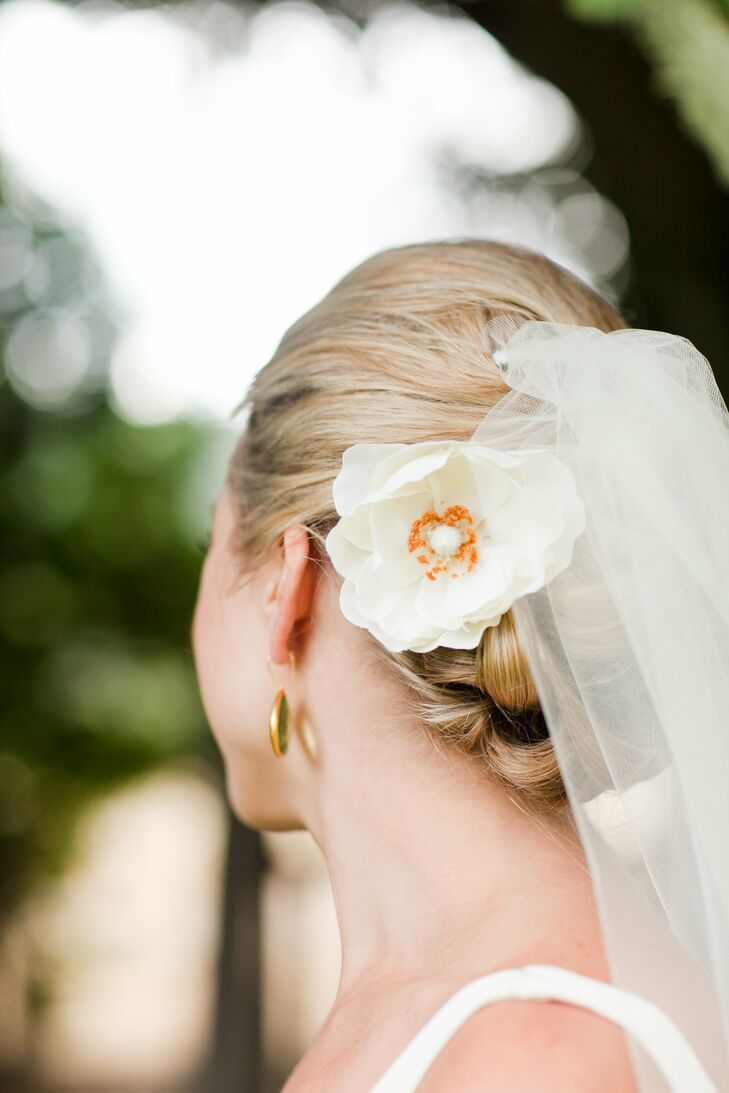 Classic Bridal Updo with Veil