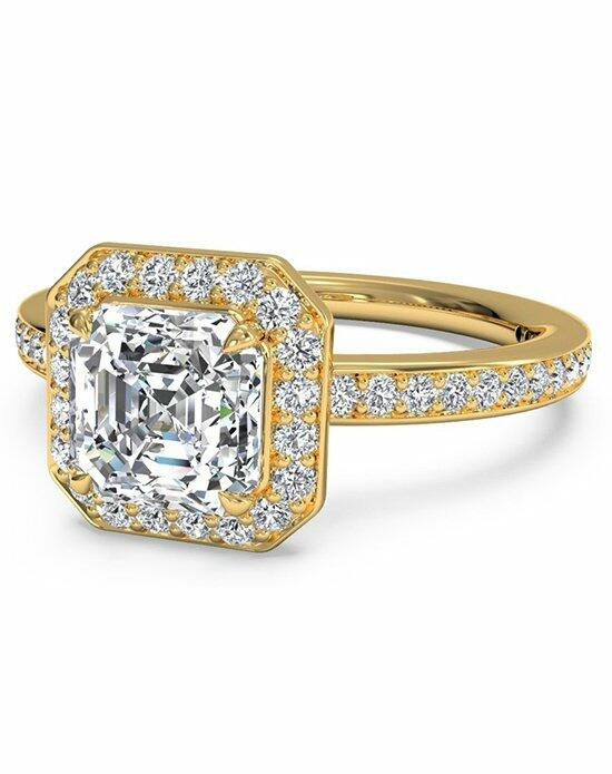 Ritani Asscher Cut Halo Micropave Diamond Band Engagement Ring in 18kt Yellow Gold (0.28 CTW) Engagement Ring photo