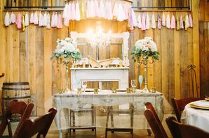 Sheer Gold Sparkle Sweetheart Tablecloth