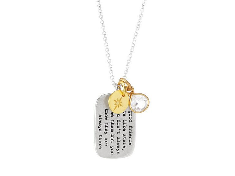 maid of honor friendship necklace