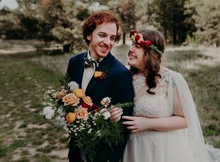"""Samantha Booher and JoshJacoby created a whimsical garden party for their boho wedding. """"I'm a Disney fanatic but didn't want to be too theme-y or ga"""