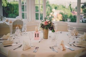 Pink and Black Table Number