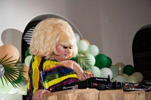 Drag Queen DJ at Wedding at The Ritz-Carlton in Santa Barbara, California
