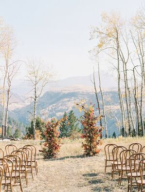 Ceremony in the Mountains With Rustic Wedding Arch