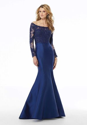 MGNY 72126 Gray,Blue,Red Mother Of The Bride Dress