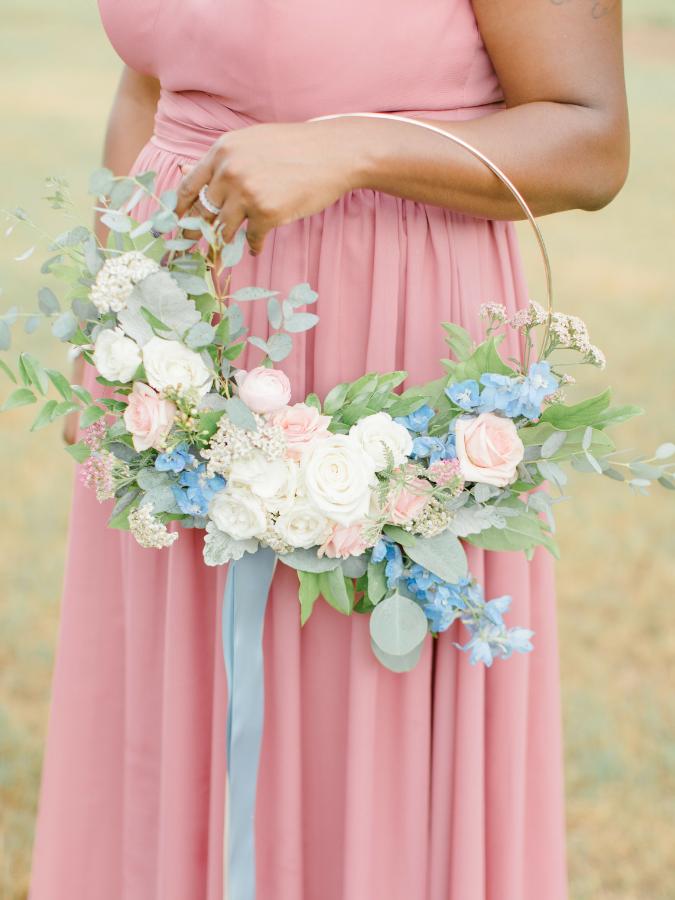 Blue hoop bouquet