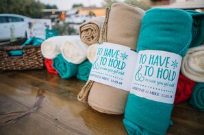 Personalized Blanket Wedding Favors