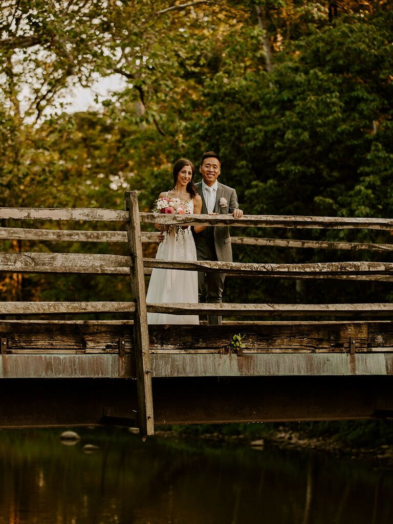 Fall wedding venue in Galloway, Ohio.