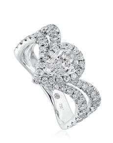 Christopher Designs Glamorous Pear Cut Engagement Ring