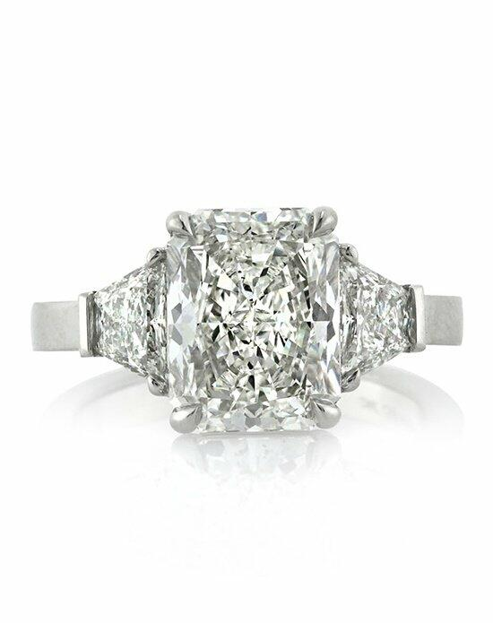 Mark Broumand 4.83ct Radiant Cut Diamond Three-Stone Engagement Ring Engagement Ring photo