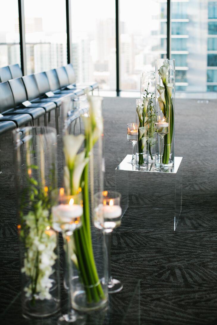 Elegant Arrangements of Orchids and Candles