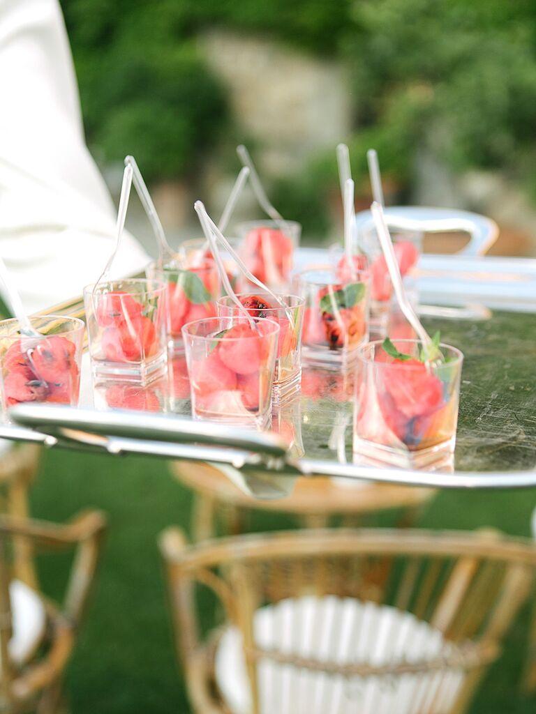 Watermelon wedding appetizers