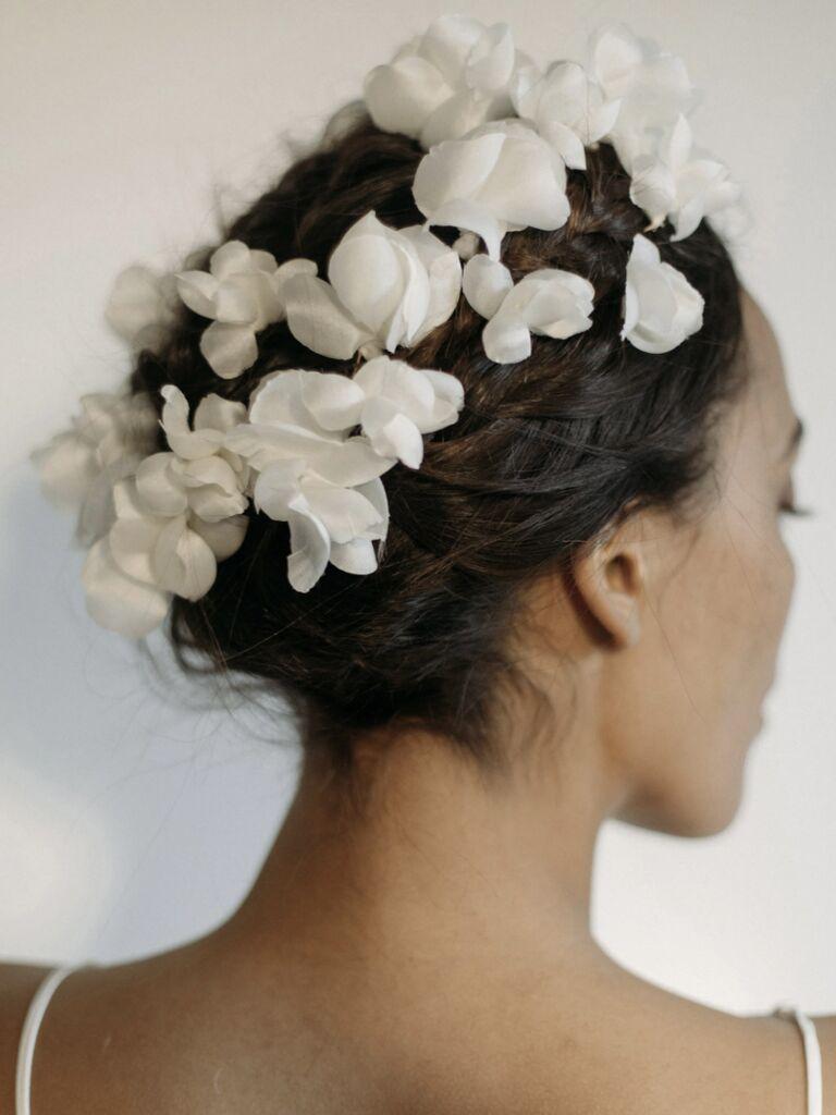 wedding hair pieces silk flowers
