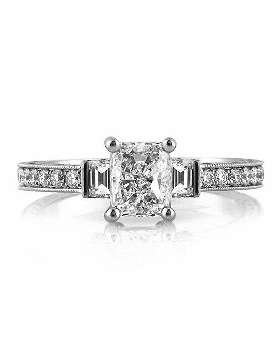 Mark Broumand 3.15ct Radiant Cut Diamond Engagement Wedding Set Engagement Ring photo