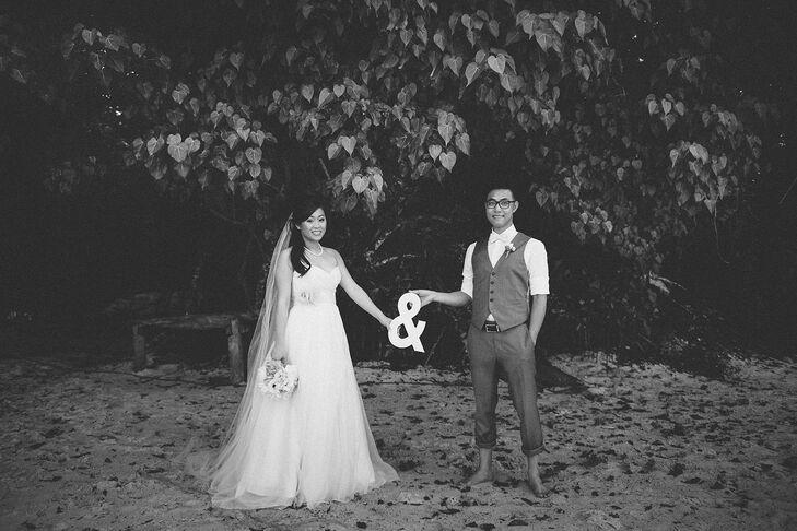 Silk Organza Wedding Dress With Floral Sash