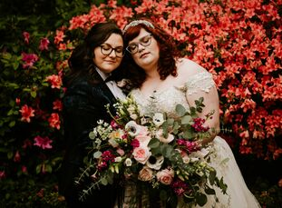 """Mary and Sahra's wedding transported guests into the pages of Emily Brontë's England. """"I'm a big literature nerd, so I wanted you to feel as though yo"""