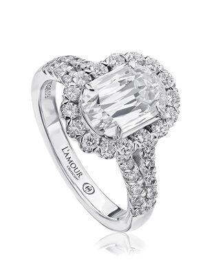 Christopher Designs Elegant Oval Cut Engagement Ring