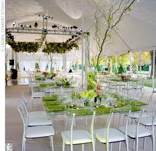 Clear reception decor