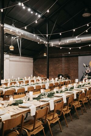 Reception Tables at PAIKKA in St. Paul, Minnesota