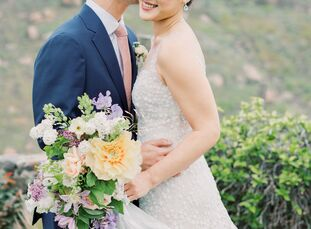 """For their romantic Easter-themed wedding, UniChoe and John Chen blended her Korean heritage with his Chinese ancestry. """"Last year, we both moved to K"""