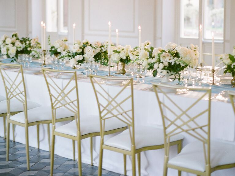 Wedding Centerpieces White and Green
