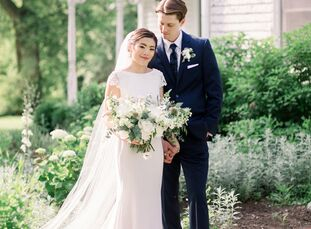 Nature was a must for Janet Lee (26 and a graphic designer) and Brad Stewart's (28 and a marketing manager) wedding. The pair got engaged during a pic