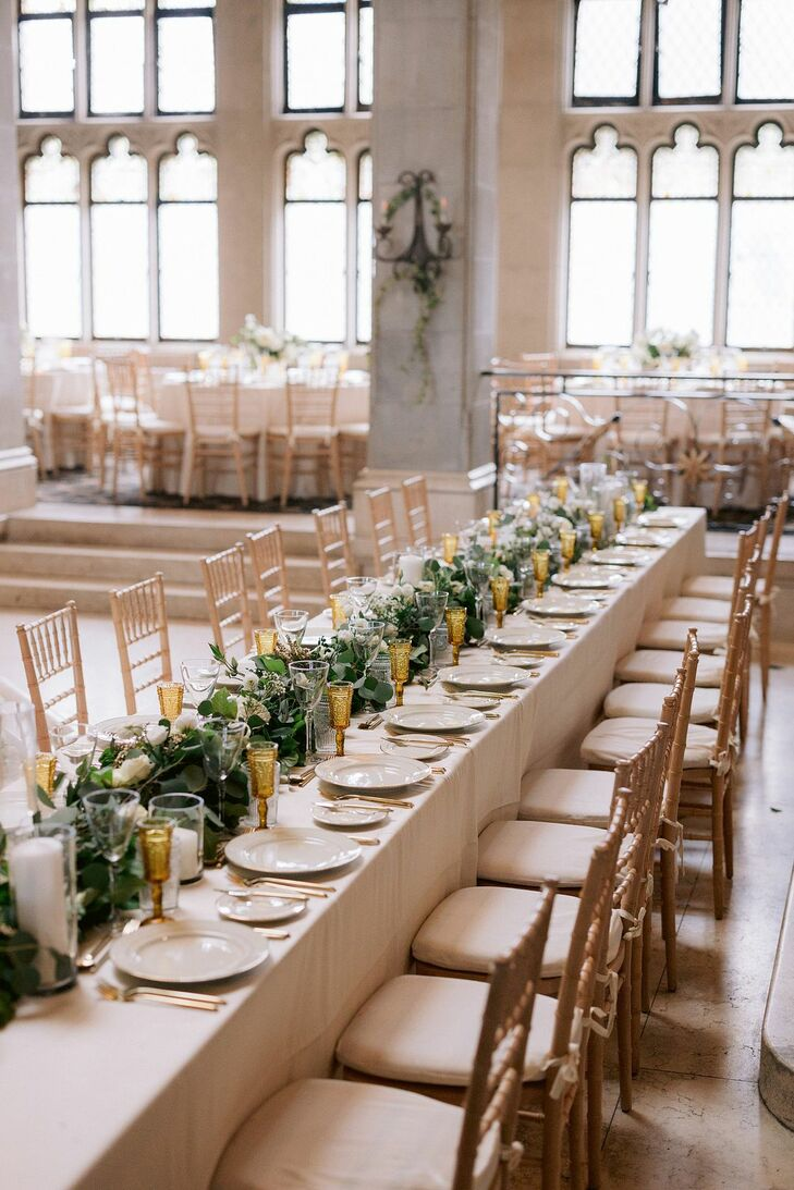 Table Decor at Wedding at The Hempstead House in Sands Point, New York