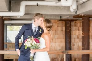 Strapless Trumpet Dress and Blue Suit