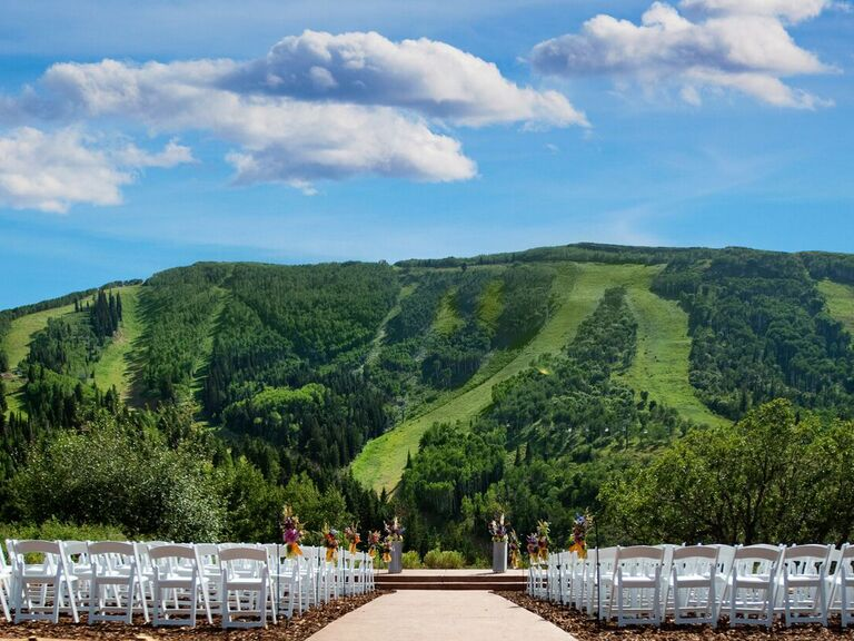 Wedding venue in Park City, Utah.