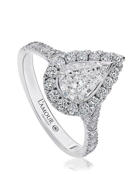 Christopher Designs Elegant Pear Cut Engagement Ring