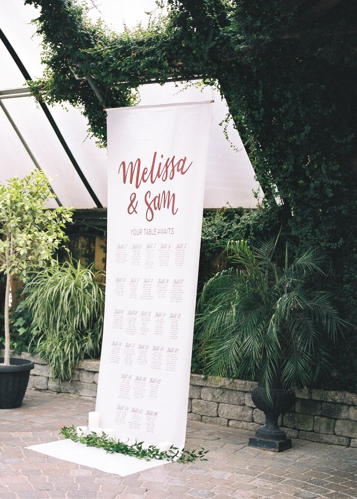 Whimsical Script Seating Chart Banner